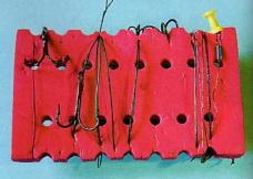 Хранение поводков для спиннинга на мотовильцах