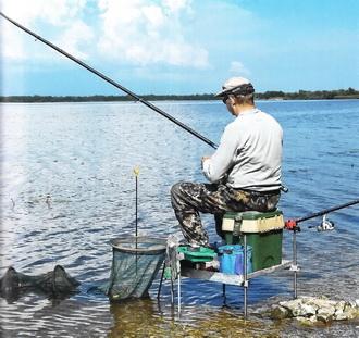 Удобное расположение рыболова на берегу