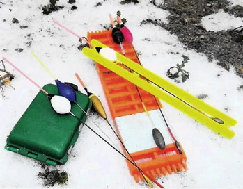 Оснастки удочки для ловли на реке