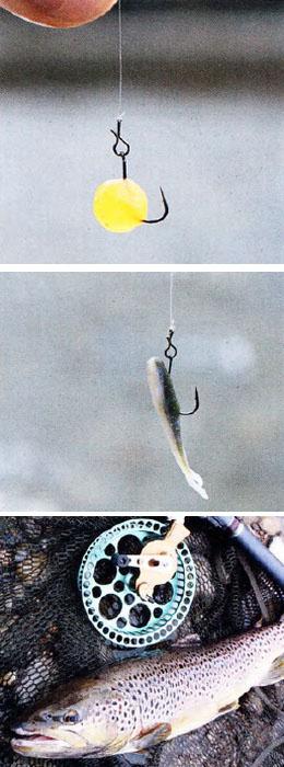Как применяются приманки для ловли форели