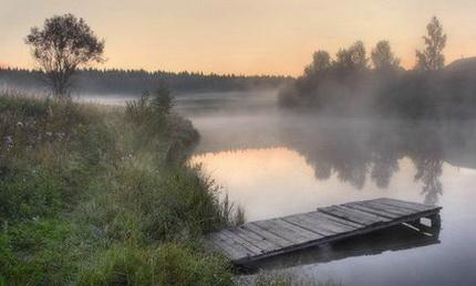 Отличное место для ловли карася в начале лета
