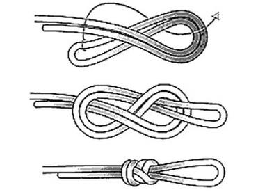 Схема вязания узла восьмерка 382