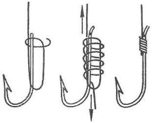 Привязывание крючков для удочки