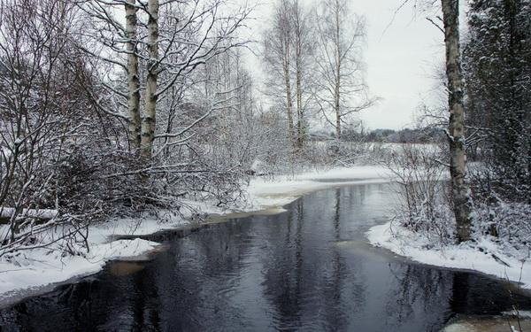 Река не замерзающая зимой