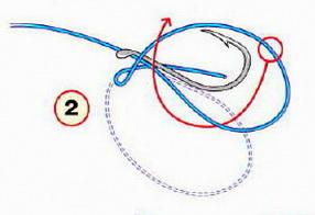 Особый узел для привязывания крючка