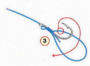Крючки привязываются рыбацкими узлами