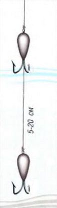 Схема паровоза из безмотылок для зимней рыбалки