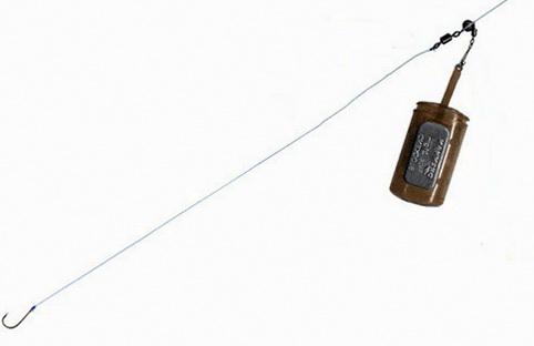 Оснастка для ловли на фидер при медленном погружении