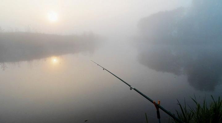 Летним утром на реке рыба ловится лучше