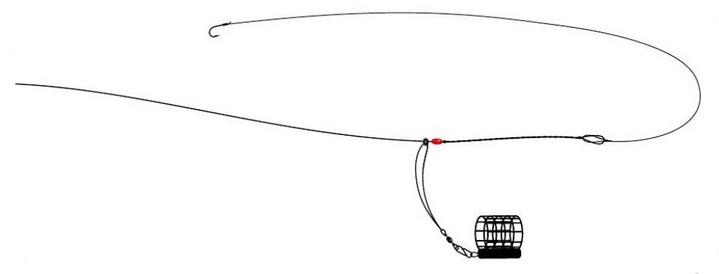 Скользящая или бегучая оснастка для фидера с отводом