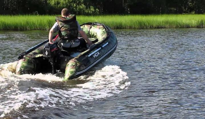 ПВХ лодка с бензиновым двигателем