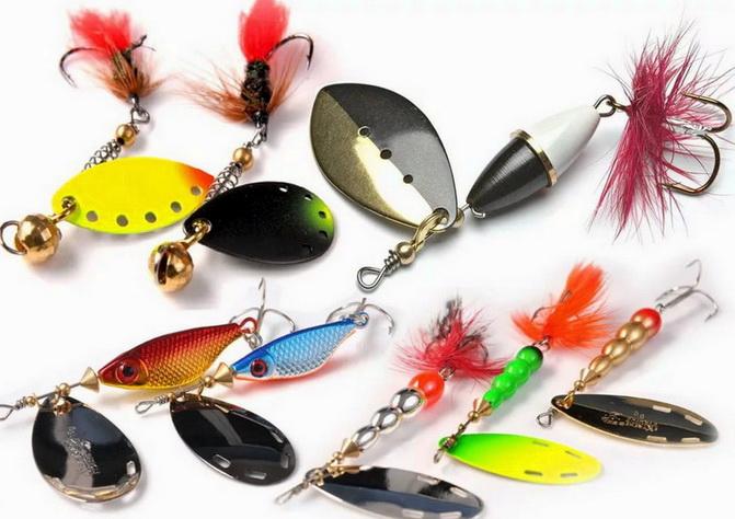 Вращающиеся блесны для ловли рыбы