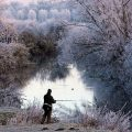 Зимняя ловля голавля на реке фидером