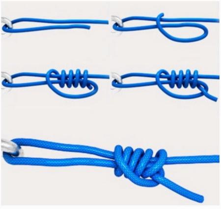 узел для привязывания застежки